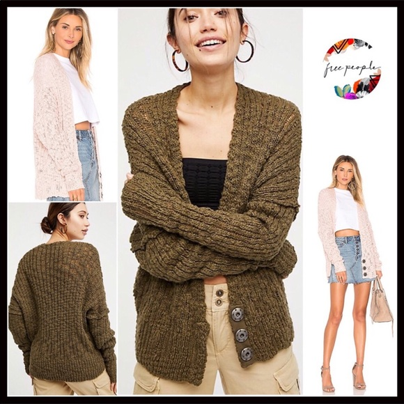 8520c60489 FREE PEOPLE CHUNKY KNIT OVERSIZED BOHO CARDIGAN